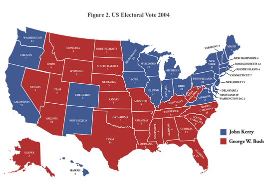 Figure 1. US Electoral Vote 2000