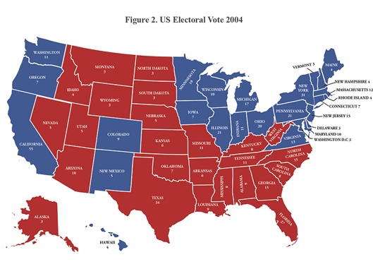 Figure 2. US Electoral Vote 2004