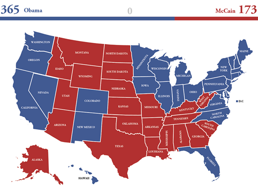 Figure 3. US Electoral Vote 2008