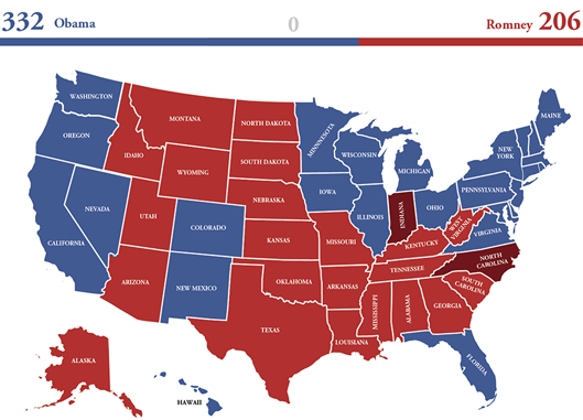 Figure 4. US Electoral Vote 2012