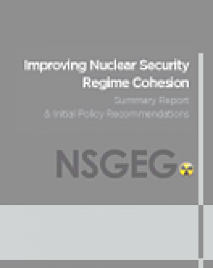 Improving Nuclear Security Regime Cohesion
