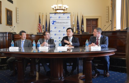 "Woo Jung-Yeop speaks at Hill Briefing ""South Korea Responds to Crisis"" in Washington, D.C."