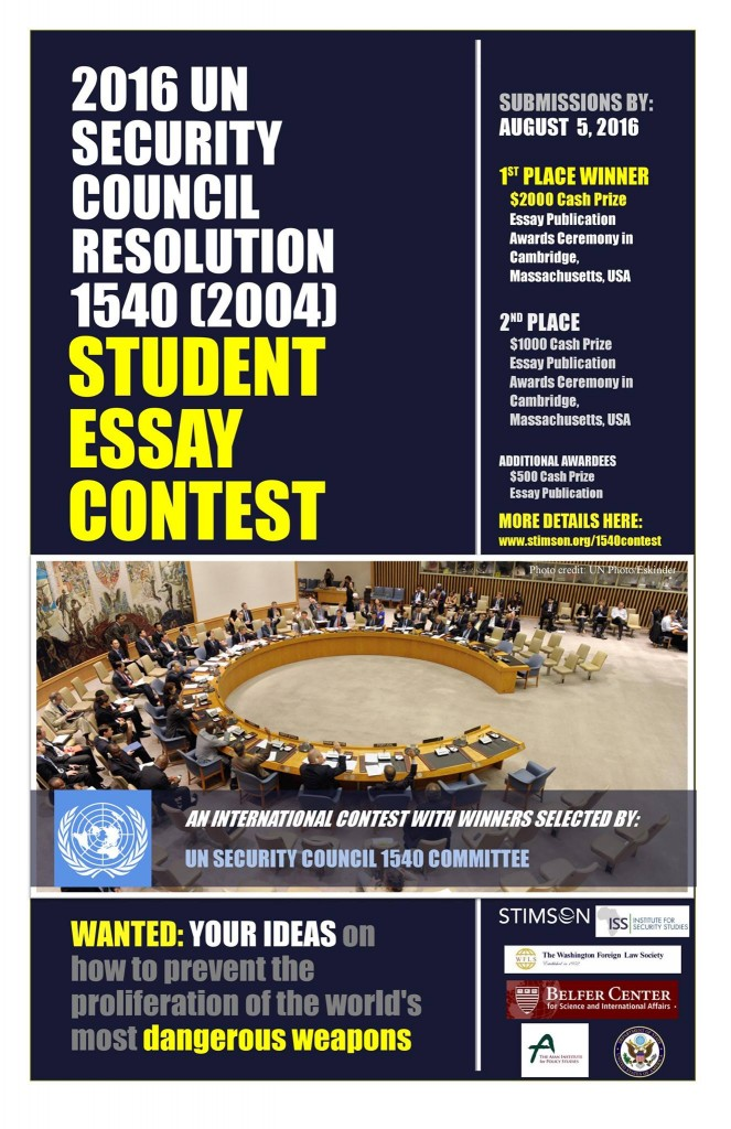 UNSC1540 Comm_Intl Student Essay Contest_poster