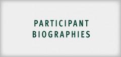 Participant Biographies 2018