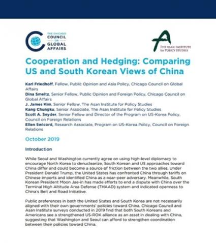 Cooperation and Hedging: Comparing US and South Korean Views of China