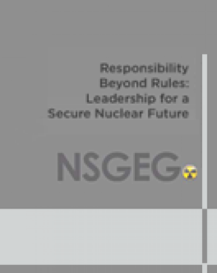 Responsibility Beyond Rules: Leadership for a Secure Nuclear Future