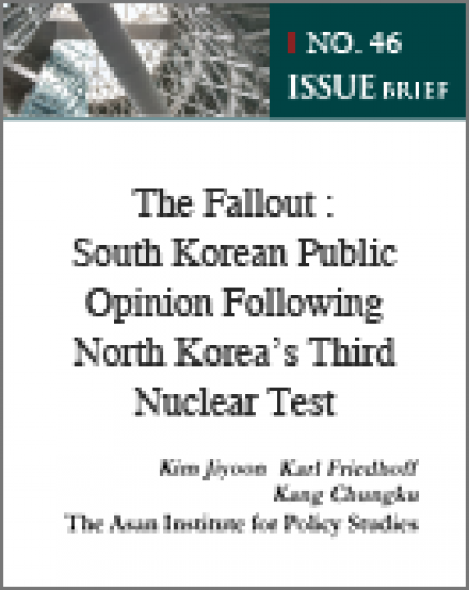 The Fallout : South Korean Public Opinion Following North Korea's Third Nuclear Test