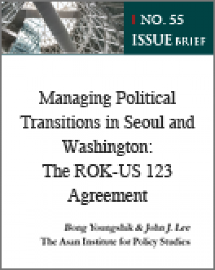 Managing Political Transitions in Seoul and Washington: The ROK-US 123 Agreement