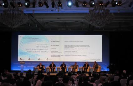 비공개: President Hahm moderates session for Singapore Forum 2016